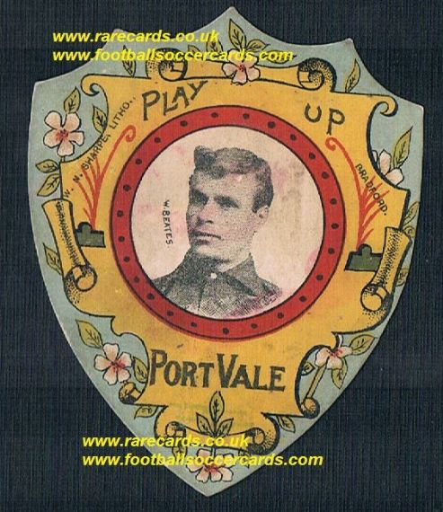 1890s Billy Beates Wolves Port Vale Reading Bristol R stunning Sharpe football card